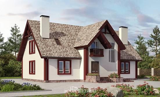 Bir çatı katı ahşap evler: projeler